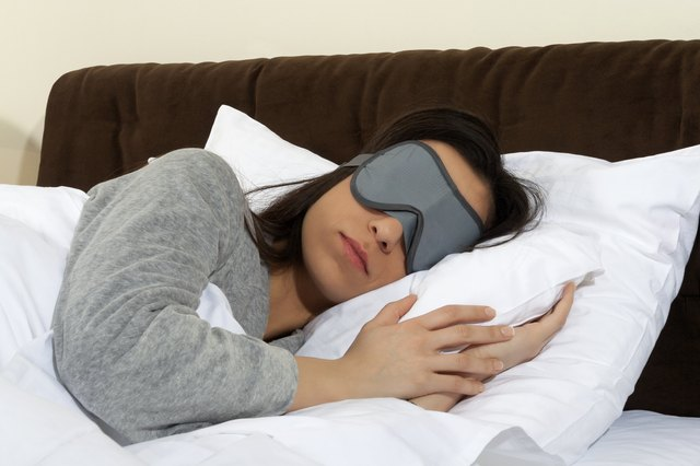 Sleeping in complete darkness or use of an eye mask helps melatonin production.
