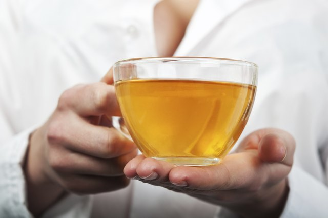Drinking cups of hot tea may help treat chest congestion.