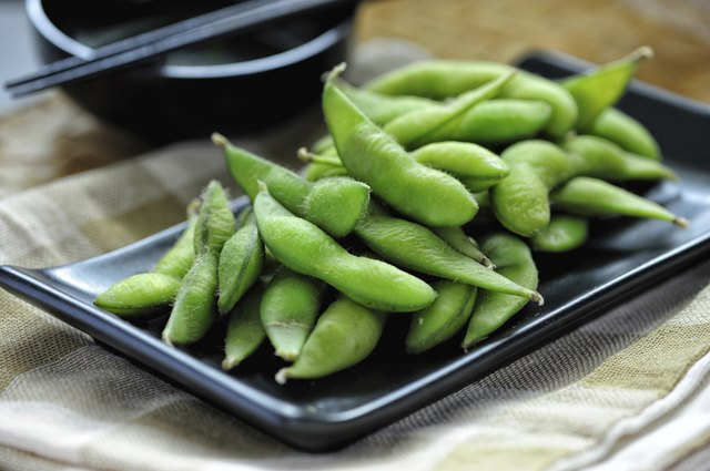 Cooked soybeans