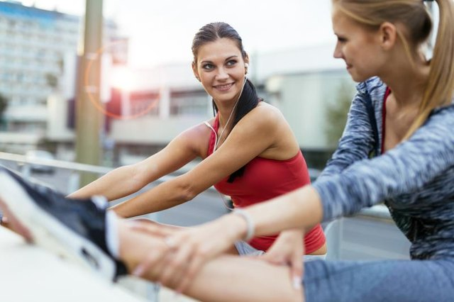 A workout buddy makes an exercise routine easier to stick with.