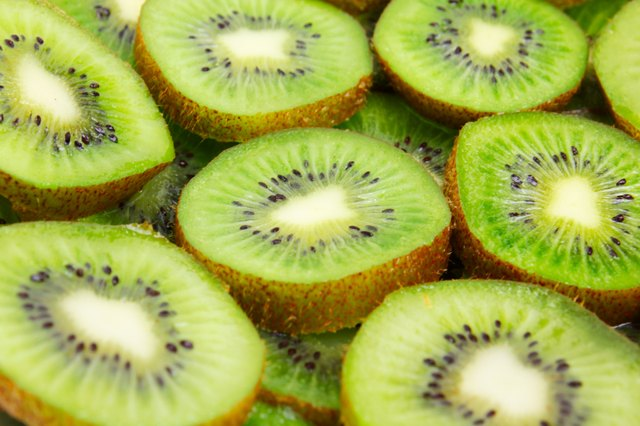 Slices of ripe kiwi