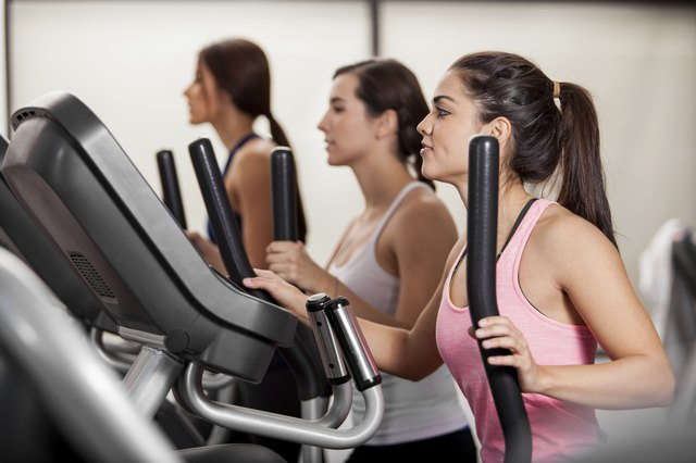 Using an elliptical is an effective body workout for the arms and shoulders as well as the legs.