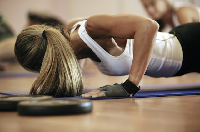 Perform push ups as part of circuit training.