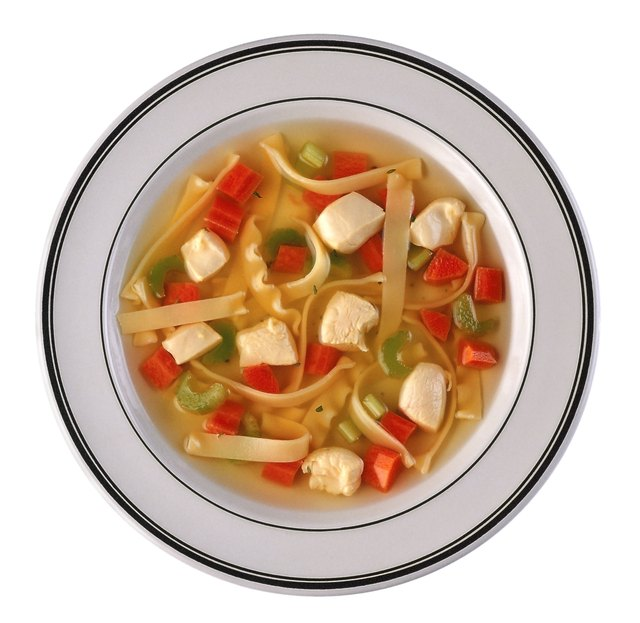 Eating soup is a great way to maintain fluid and electrolyte balance.