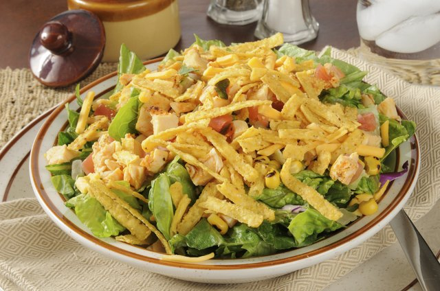 A salad can be a low-calorie option.