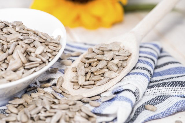 Roast sunflower seeds are a good topping for salads.