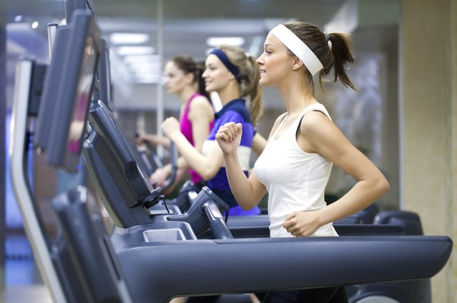 running on a treadmill is a very effective way of burning calories.