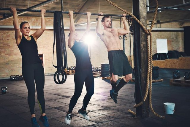 Counter a push-up routine with regular pull-ups.