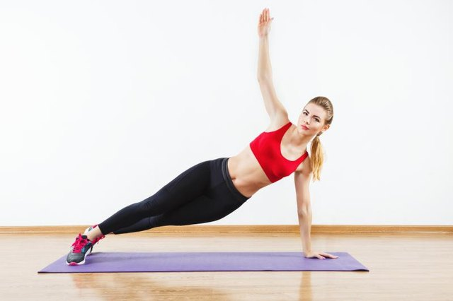 Side plank may also be done on your hand.