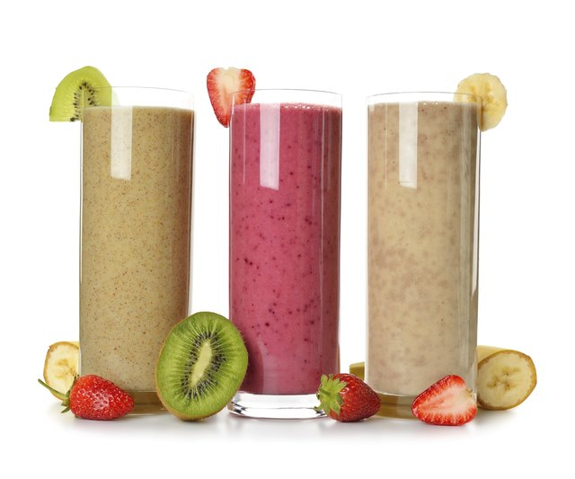 Smoothies are a healthy way to get a lot of calories.