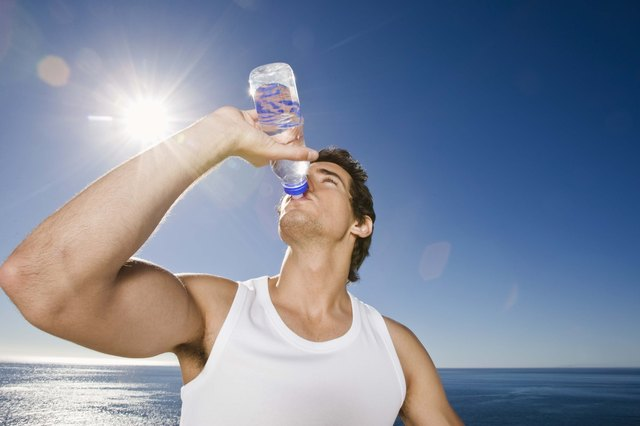 Drink at least 64 ounces of water daily to make up for the fluid loss and prevent dehydration.