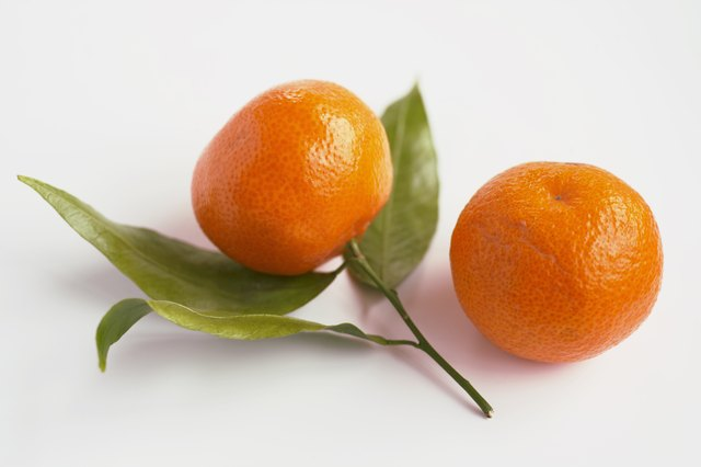 Tangerines are rich in Vitamin C.