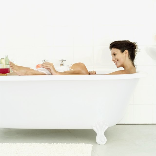 Add essential oils to a bath.