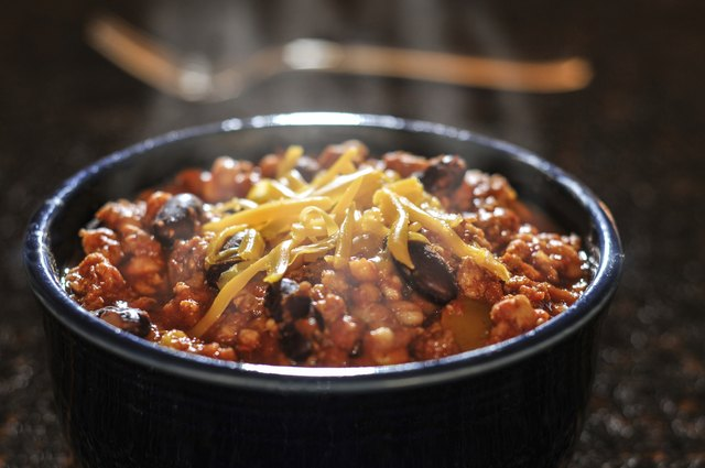 Chili can be a good lunch meal.