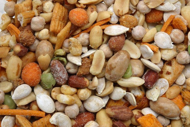 A trail mix of nuts and seeds.