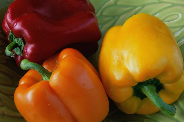 Red bell peppers are high in vitamin C.