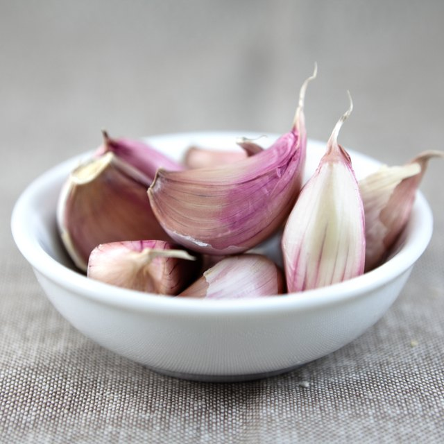 Bowl of garlic cloves