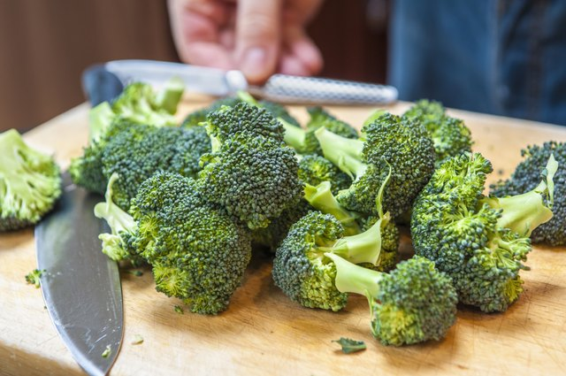 broccoli on cutting board