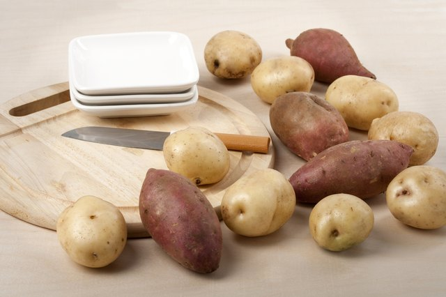 Potatoes contain potassium.