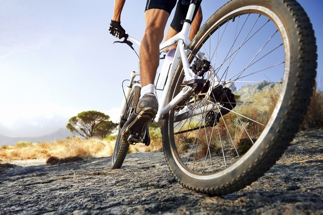 Aerobic exercise like bicylcling encourages your heart and lungs to work harder.