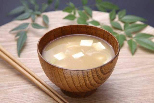 A bowl of miso soup