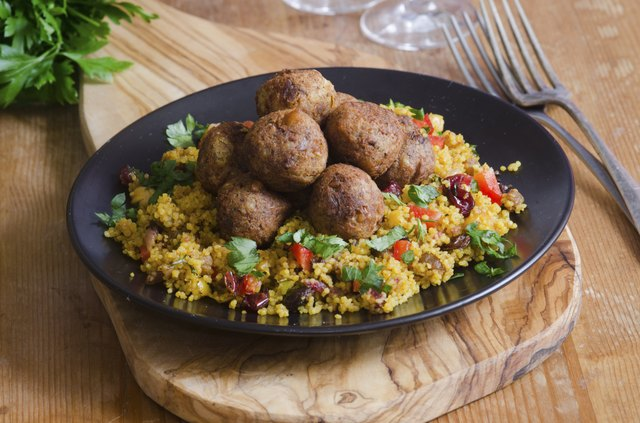 falafel plate with couscous