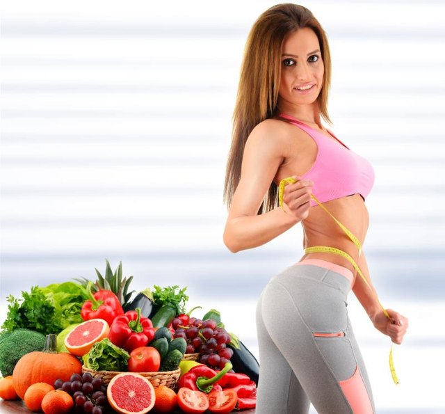 A diet based on fresh fruits and vegetables can help you slim your tummy.