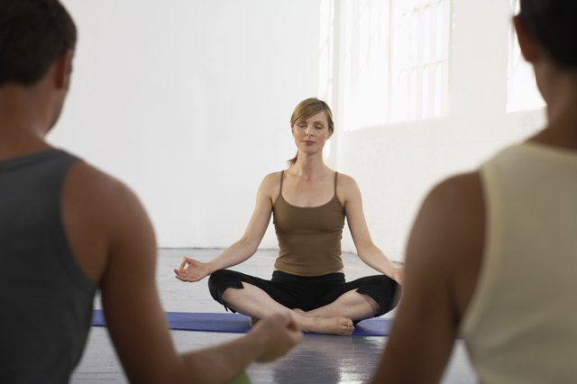 The Sukhasana pose has a calming effect.