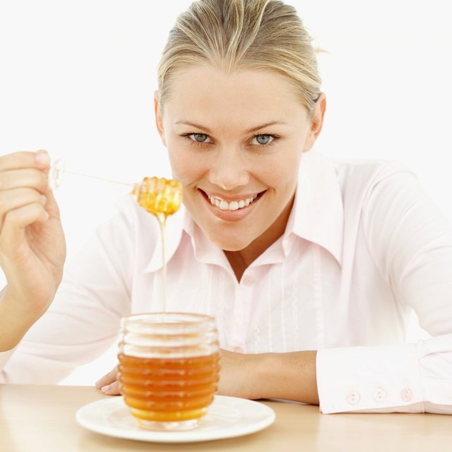 Add honey to liquids.