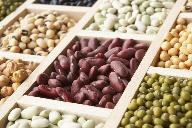 Beans and legumes are important sources of protein.