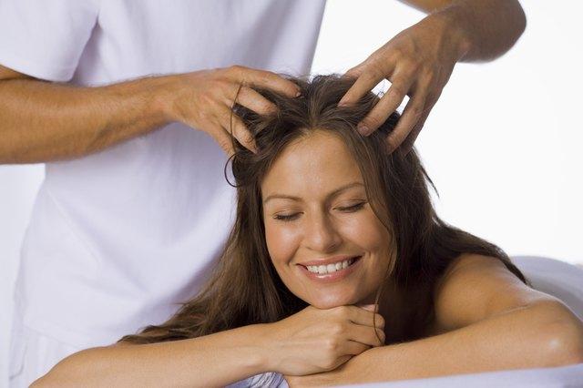 Scalp massage.