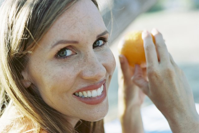 Orange peel is a natural tooth whitener.