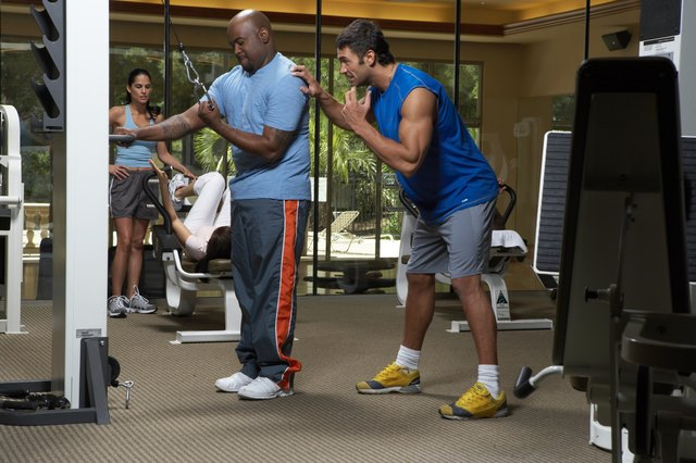 Build muscle faster by enlisting a trainer.