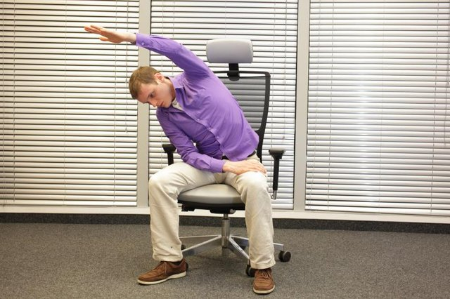 Use a chair to support your weight.