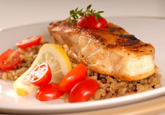 Consume fiber and protein, such as fish and brown rice.