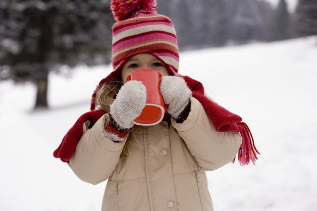 Do not take an oral temperature immediately after giving the child a hot drink.