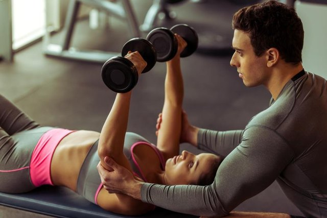 Dumbbell presses are an alternative to push-ups.