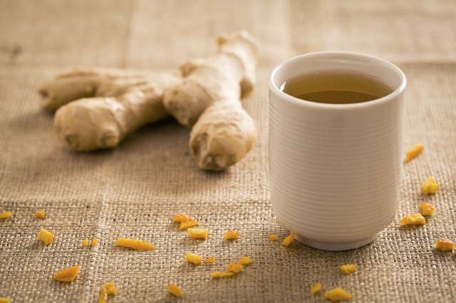 Ginger may be taken in tea form.