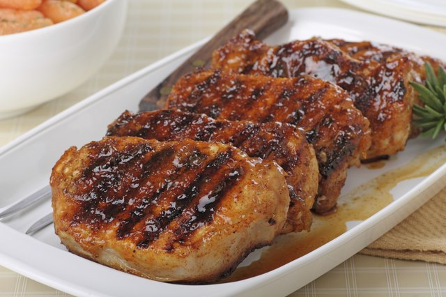 glazed pork loins