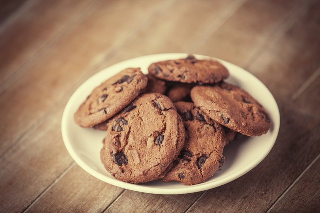 Chocolate chip cookies made with Truvia.