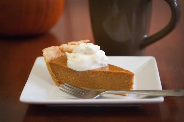 Please don't shoot the messenger, but Starbucks' Pumpkin Spice Latte contains 50 g of sugar, twice as much as an actual slice of pumpkin pie! Personally, I'd rather eat the pie...