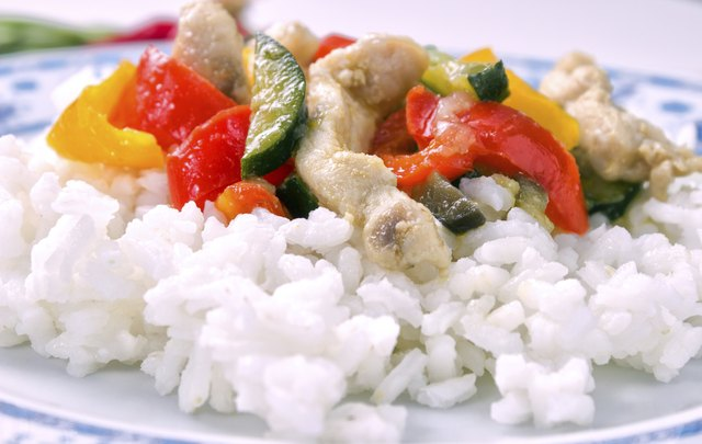 Try lean meats with white rice for dinner.
