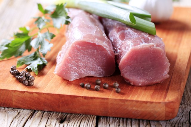 Raw pork tenderloin.