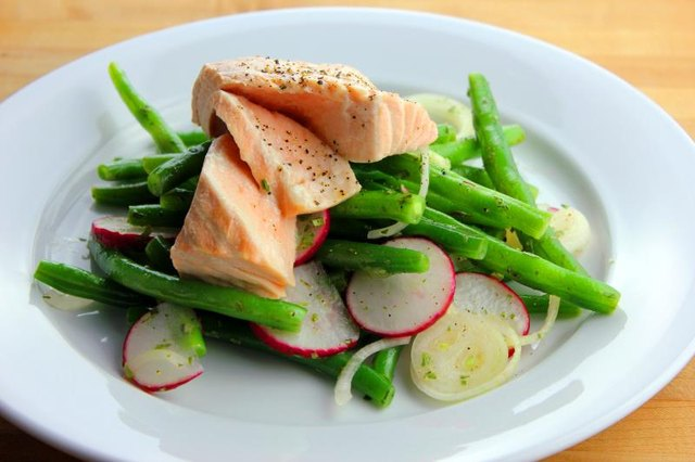 Salmon is a great source of protein and good fats.