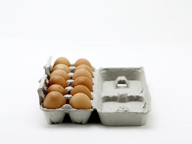 Eggs in egg carton.