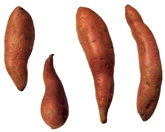 Sweet potatoes are starchy root vegetables.