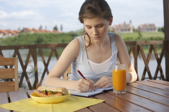 Keep a journal of your eating habits