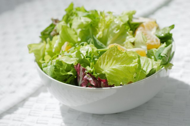 Eating salad with dinner will also help teen girls feel full so they don't overeat.