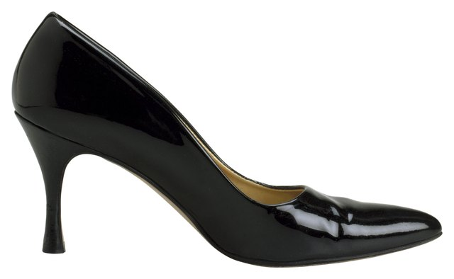 A classic black pump is always a safe choice.