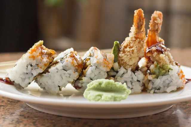I rotoli di tempura di gamberetti sono molto ricchi di sodio.